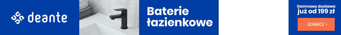 Zobacz Darmowa Dostawa od 199 zł Baterie łazienkowe Deante