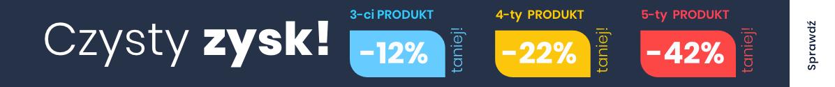 Zobacz Czysty ZYSK! -12% -22% -42%