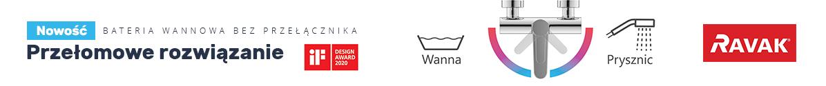 Zobacz Przełomowa bateria wannowa Ravak