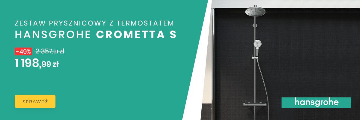 Zobacz Hansgrohe Crometta S 1198,99 zł |-49%|
