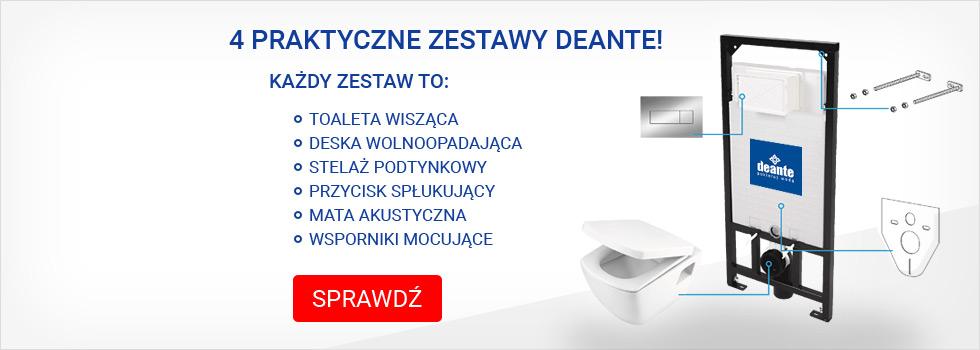 Zestaw 6w1 stelaż + miska Deante
