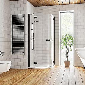 Kabiny prysznicowe w klasycznej czerni