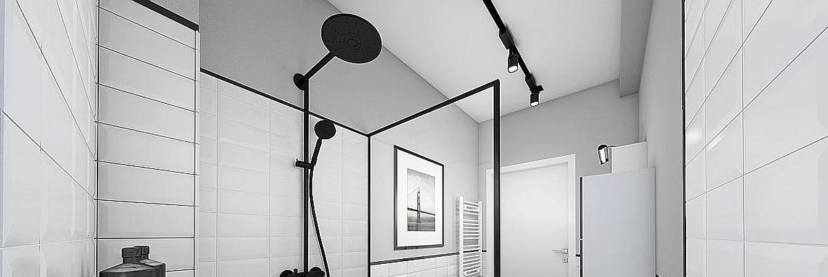 Czarny zestaw prysznicowy