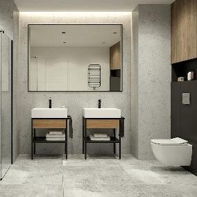 Łazienka industrialna – pomysły na aranżację