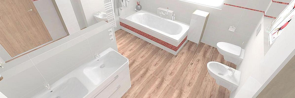 Łazienka  obudowanymi z rurami