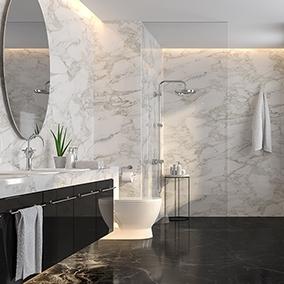 Marmurowa łazienka, czyli ponadczasowe rozwiązanie aranżacyjne