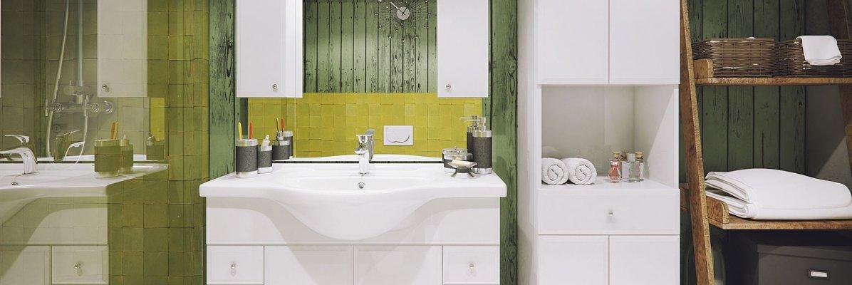 meble łazienkowe defra białe