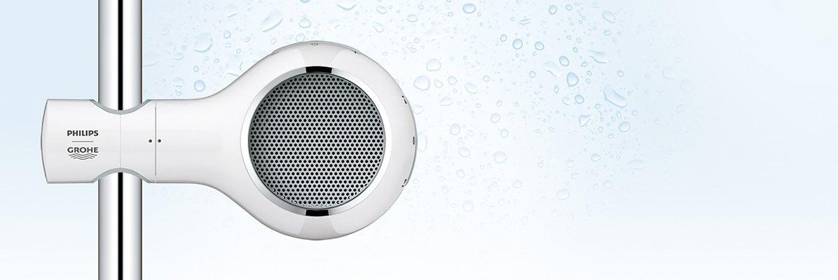 wodoodporny głośnik to jeden z pomysłowych gadżetów do łazienki