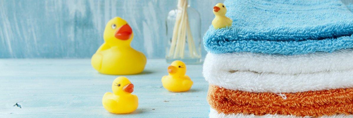 Kolorowe akcesoria łazienkowe dla dzieci