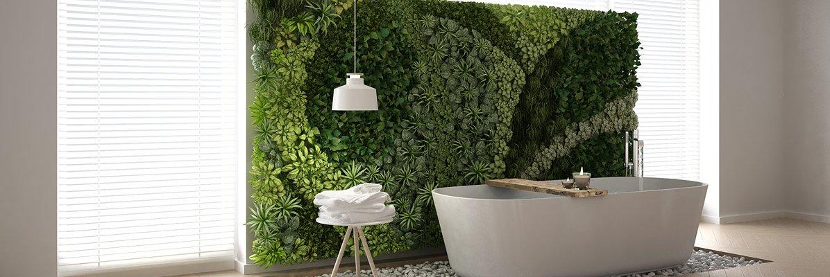 Kwiaty i rośliny w łazience