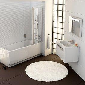 Nasze aranżacje: stylowa minimalistyczna łazienka
