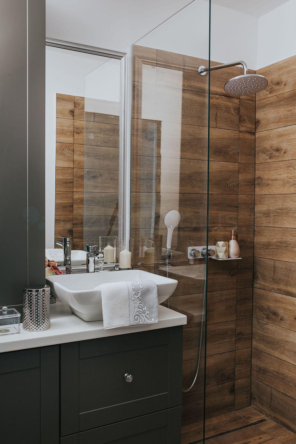 Deante Prysznic W Drewnie Kuchnie I łazienki Inspiracje