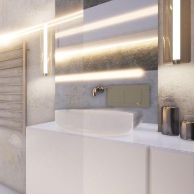 Łazienka w stonowanych kolorach ziemi