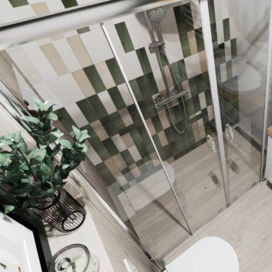 Przytulna łazienka z elementami zieleni