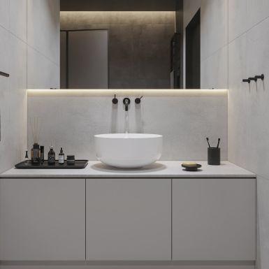 Nowoczesna łazienka w szarości