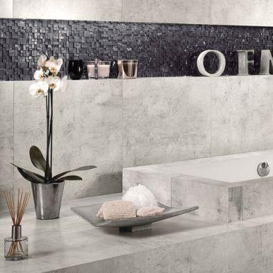 Industrialny beton w łazience