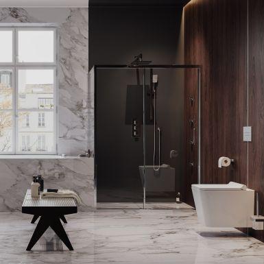 Elegancki pokój kąpielowy dla spragnionych luksusu