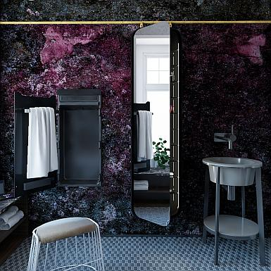 Łazienka z efektowną ścianą