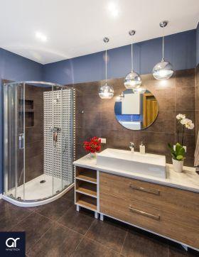 inspiracja: Drewno w łazience - Agata Rozwarska Projektowanie Wnętrz