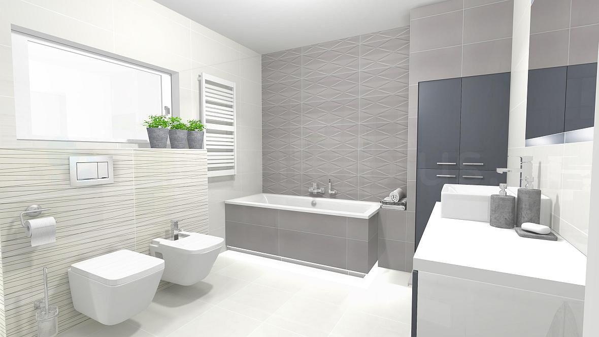 Nowoczesna minimalistyczna łazienka z oknem