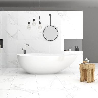 Nowoczesna łazienka z efektem marmuru