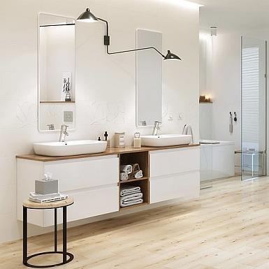 Nowoczesna łazienka z chromowanymi elementami
