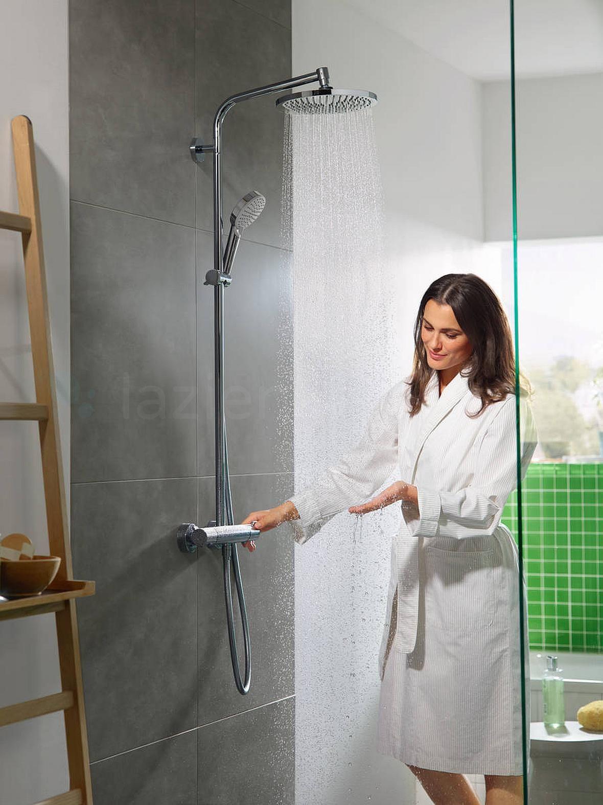 Hansgrohe Crometta - łazienka z nowoczesnym zestawem prysznicowym