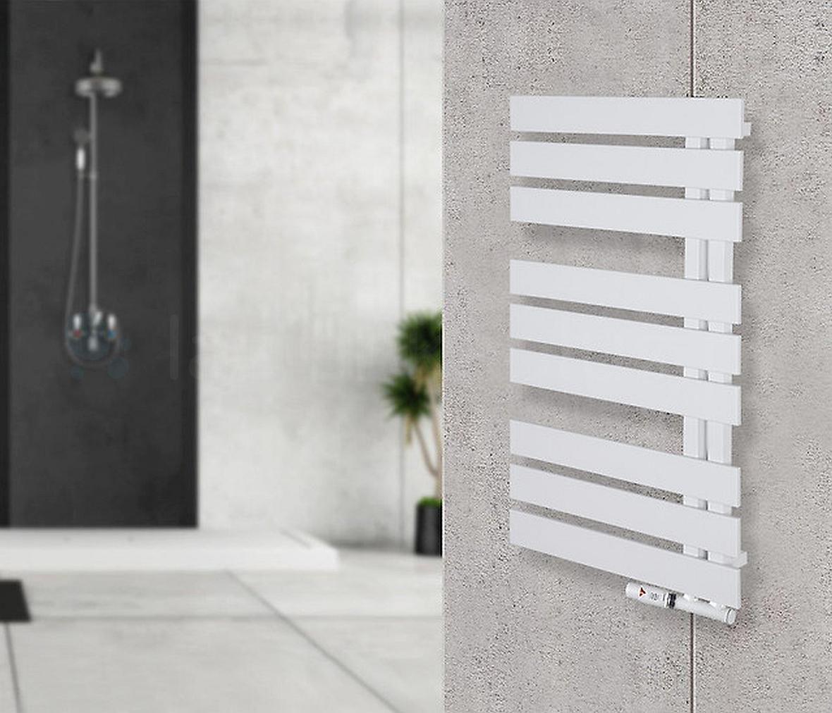 Instal Projekt - nowoczesny biały grzejnik łazienkowy
