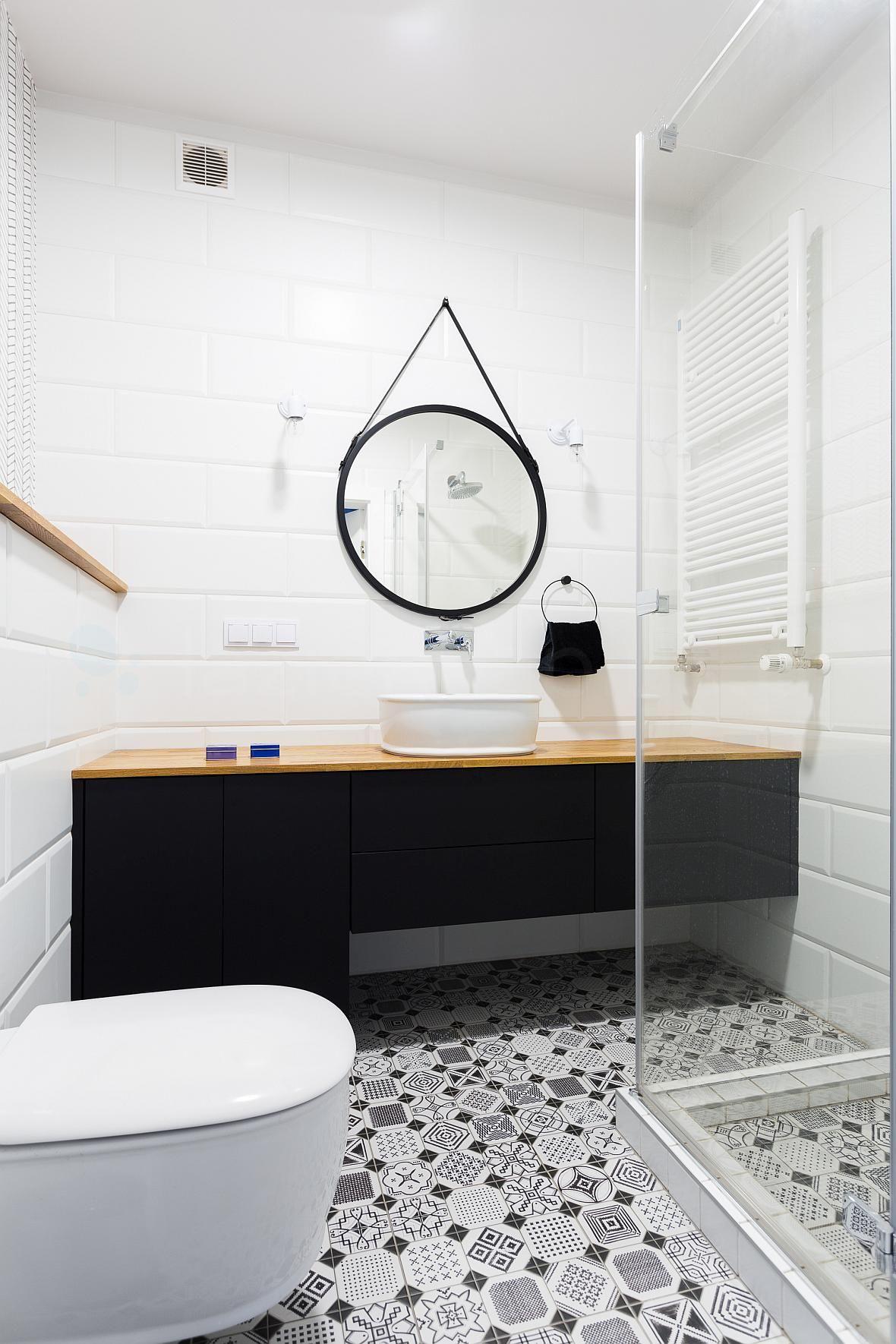 łazienka W Bieli I Czerni Kuchnie I łazienki Inspiracje