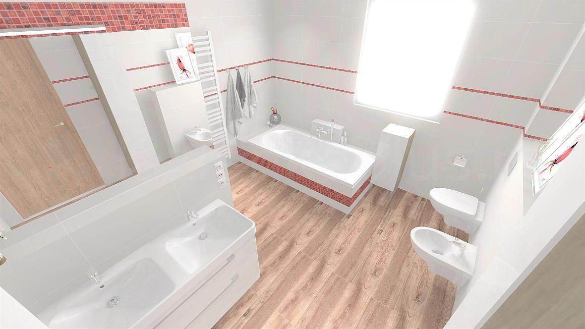 Łazienka z kolorowym akcentem