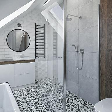 łazienka Ze Skosem W Stylu Nowoczesnym Inspiracje