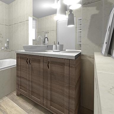 Łazienka z rustykalną nutą