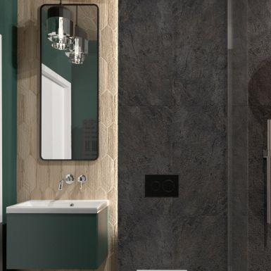 Mała łazienka na parterze z prysznicem
