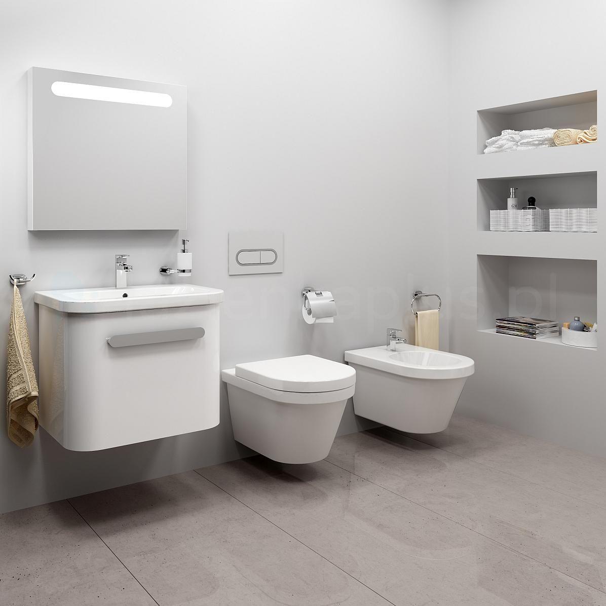 Łazienka z białymi meblami