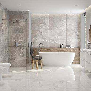Oltens - luksusowa biała łazienka z domieszką naturalnych elementów