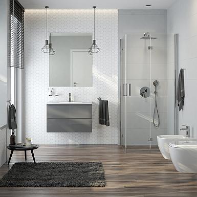 Oltens - elegancka łazienka z wanną i kabiną prysznicową