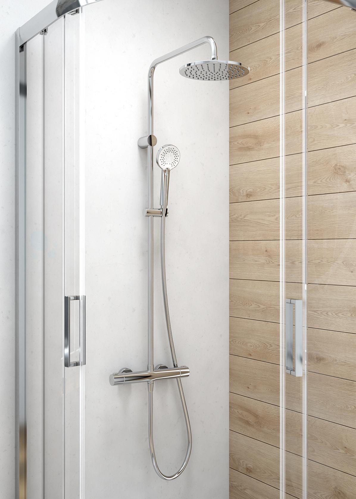 Zestaw prysznicowy z deszczownicą Oltens