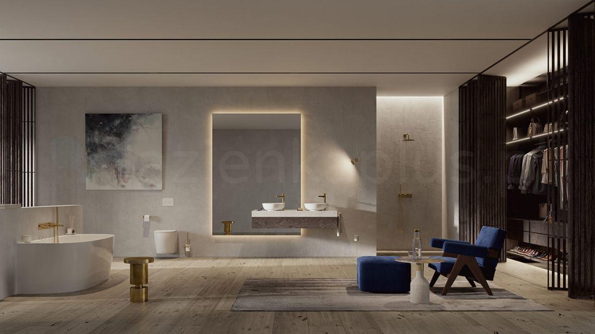 Elegancki pokój kąpielowy