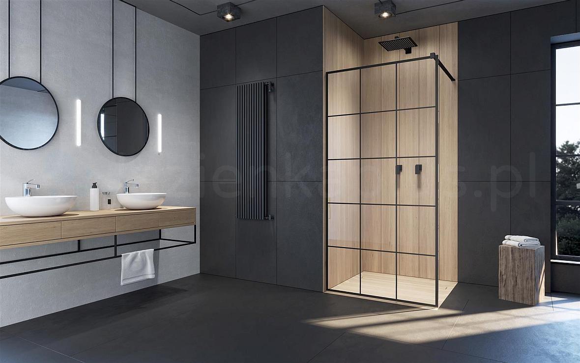 Radaway - czarne ścianki prysznicowe