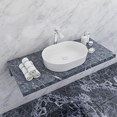 Biała umywalka nablatowa do każdej łazienki