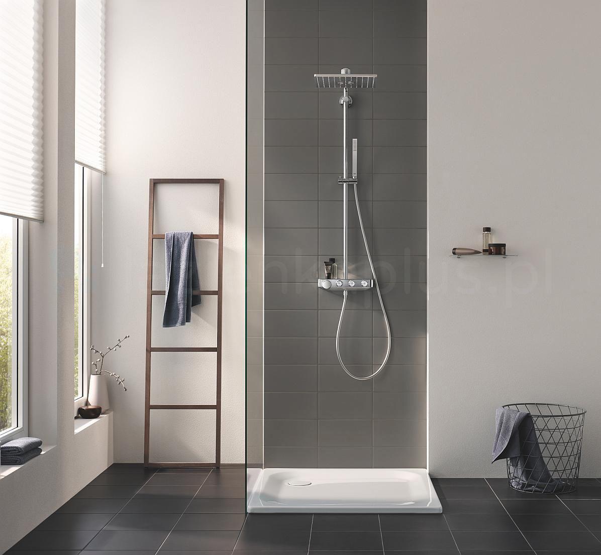 Grohe SmartControl  w minimalistycznej łazience