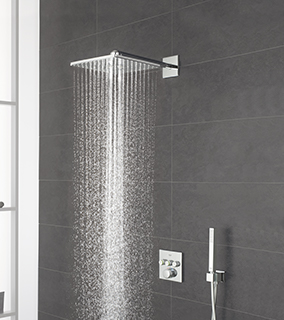Grohe Grohtherm SmartControl zestaw prysznicowy podtynkowy termostatyczny z deszczownicą chrom 34706000