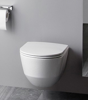 Laufen Pro A miska WC wisząca Rimless z deską wolnoopadającą Slim biała H8669560000001