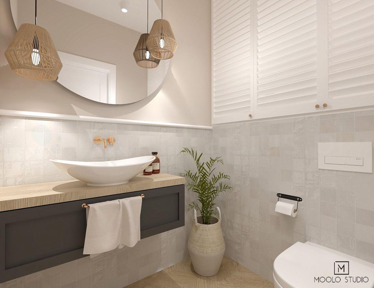 Naturalne barwy w łazience