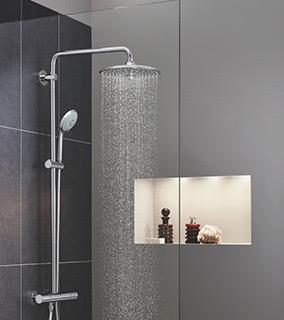 Grohe Euphoria 260 zestaw prysznicowy termostatyczny z deszczownicą chrom 27296002