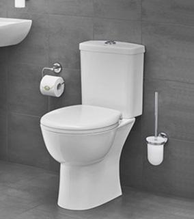 Grohe Bau Ceramic zestaw kompakt WC z deską wolnoopadającą biały 39347000