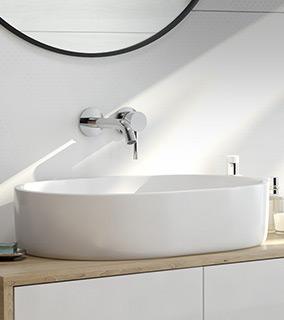 Oltens Lom umywalka 55x34 cm nablatowa owalna z powłoką SmartClean biała 40811000