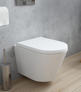 Zestaw Oltens Jog miska WC wisząca PureRim z powłoką SmartClean z deską wolnoopadającą 42504000