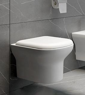 Zestaw Oltens Gulfoss miska WC wisząca PureRim z powłoką SmartClean z deską wolnoopadającą 42508000