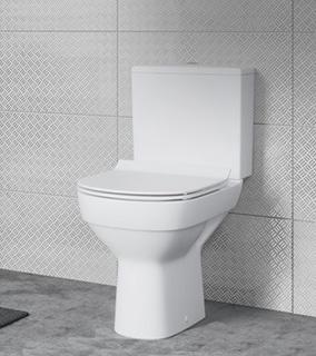 Cersanit City kompakt WC CleanOn z deską wolnoopadającą biały K35-035